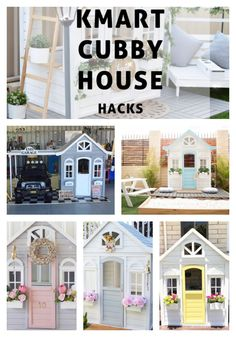 The most amazing Kmart cubby house hacks and makeovers you'll find! Oh So busy mum has rounded up the best ones online and featured them here for you. Kids Cubby Houses, Kids Cubbies, Play Houses, Kids Outdoor Play, Kids Play Area, Backyard For Kids, Kids Den, Backyard Playground, Outdoor Fun