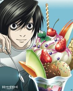 Poster Death Note L, needs more strawberries!