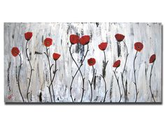 Poppy painting https://www.etsy.com/listing/74256277/44x24-custom-original-large-abstract