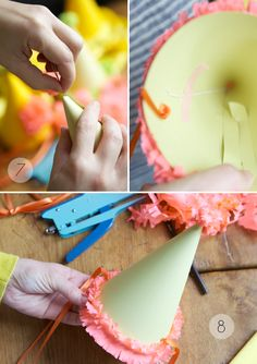 I love making party hats. I usually make my own because it is surprisingly hard to find party hats in normal colors. First Birthday Parties, First Birthdays, Birthday Hats, Elmo Birthday, Dinosaur Birthday, Birthday Ideas, Diy Party Hats, Hat Template, Homemade Birthday