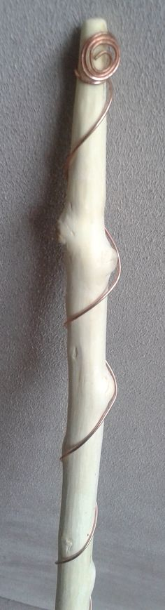 """Holly & Copper Wand with Crow Feather and carved """"Blessed Be"""" - Wiccan - Pagan - Spell Casting - Witches Wand"""