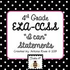 This pack of 4th Grade I Can Statements is suitable for all the 4th grade ELA standards.  Polka dot border frames throughout (cute in grayscale or color)!! $3