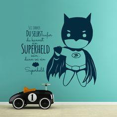 Wandtattoos - Wandtattoo Superheld sei immer du selbst ... M1994 - ein Designerstück von IlkaParey bei DaWanda