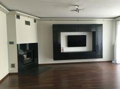 Tv wall. Modern wall. Fireplace. Living room.