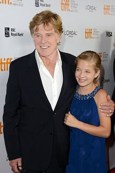Robert Redford and Jackie Evancho at an event for The Company You Keep (2012)