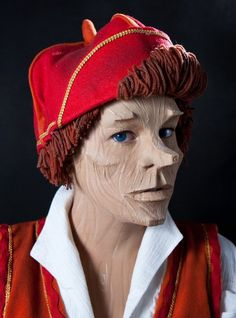 Pinocchio inspired makeup.  I created this prosthetic makeup in 2010 at school in Vancouver, BC. I won 'Makeup of the Month'! I also created the costume and wig. TANNIS
