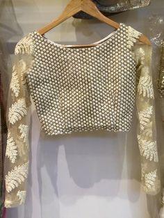 sheer ivory/cream blouse design