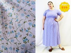 CLEARANCE  Plus Size  Vintage Purple Floral Empire by TheCurvyElle, $16.00