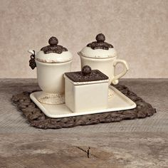 The GG Collection, Acanthus Coffee Container Set