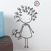 Doodle art 396387204702947536 - Found it at AllModern – Piccolo Mop Top Wall Decal Source by marinaamiel Doodle Drawings, Cartoon Drawings, Doodle Art, Easy Drawings, Drawing For Kids, Art For Kids, Stick Figure Drawing, Figure Drawings, Doodle People