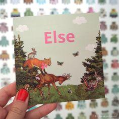 Nostalgisch geboortekaartje dieren | Lievekaarten.nl | # birthannouncements animals bosdieren