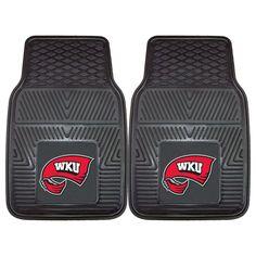 Western Kentucky Hilltoppers NCAA Heavy Duty 2 Piece Vinyl Car Mats 18