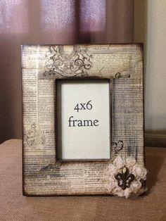 fleur de lis embellished picture frame