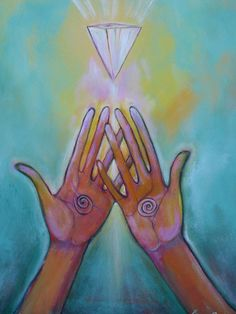 Healing Hands Painting - Healing Hands Fine Art Print