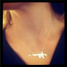 AR-15 Necklace (Sterling Silver/Gold-Plated)