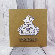 Wedding RSVP card Wedding acceptance card Handmade Wedding Cards Handmade, Card Wedding, Wedding Rsvp, Wedding Acceptance Card, Sell On Etsy, My Etsy Shop, Heart Wedding Cakes, Card Ideas, Gift Ideas