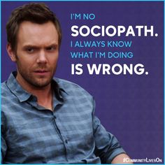 I'm just a guy that doesn't like taking tests, doing work, and getting yelled at. #CommunityLivesOn