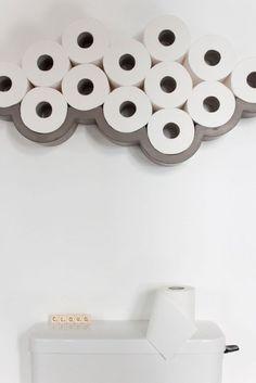 Lyon Beton Concrete Cloud Toilet Roll Shelf - Small - Bookshelves & Cabinets - Furniture