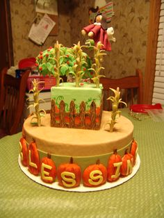"""Fall Harvest"" Thanksgiving cake"