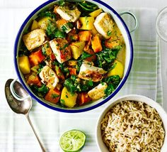 Tofu, butternut & mango curry