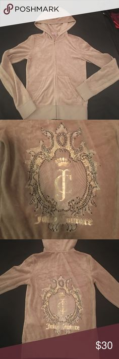Juicy Couture zip up hoody Perfect condition! {PETITE} barely worn Juicy Couture Jackets & Coats