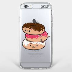 Custom Phone Case Donut Cats