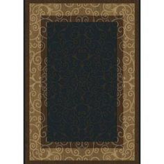 Oasis Dark Blue/Brown 7 ft. 8 in. x 10 ft. 2 in. Area Rug-1-HD4752-575 at The Home Depot