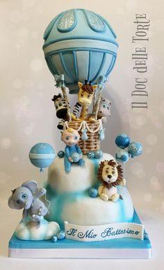Hot air balloon christening cake - Cake by Davide Minetti