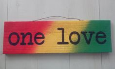 Sign Rustic One Love Rasta Sign wall decor Handmade Reggae Sign using Reclaimed Pallet and hand painted