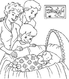 Baby And Family Coloring Pages
