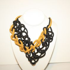 black/yellow rope necklace