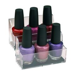 Adhesive Nail Polish Organizers - - These Nail Polish Organizer Pods are a great way to store your nail polish. Use the nail polish bottle holders to easily and conveniently store or display your nail po Nail Polish Holder, Nail Polish Storage, Nail Polish Sets, Make Up Storage, Diva Nails, Nail Polish Bottles, Cosmetic Sets, Aleta, Nail Polish Collection