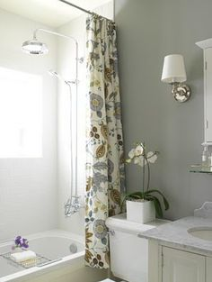 gray and beige guest bath
