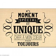 Tampon Chalk spirit - Cher à mon coeur - 10 x 7 cm