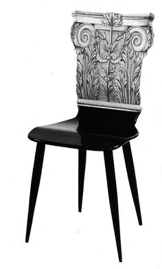 Fornasetti Corinthian Capitol chair.
