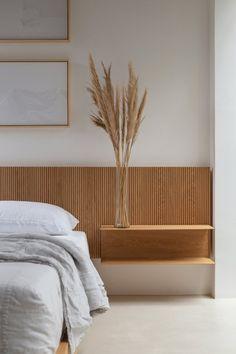 Minimal Bedroom, Modern Bedroom, Interior Design Living Room, Interior Decorating, Bed Design, House Design, Interior Minimalista, Style Deco, Apartment Interior