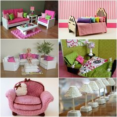 DIY Barbie furniture and DIY Barbie house ideas dollhouse ideas