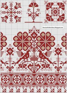 Epesss Krist uploaded this image to 'RussianEmbroidery patterns'. See the album on Photobucket. Cross Stitch Bird, Cross Stitch Borders, Cross Stitch Samplers, Cross Stitching, Cross Stitch Patterns, Hungarian Embroidery, Folk Embroidery, Cross Stitch Embroidery, Embroidery Patterns