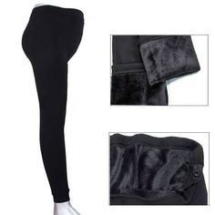 Warm Winter Lined Maternity Leggings
