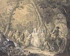 JEAN-BAPTISTE ANDRE GAUTIER D'AGOTY (PARIS 1740-1786) Acte de bienfaisance de la Reine devant un vigneron blessé et sa femme implorante plume et encre noire, lavis gris, rehaussé de blanc sur papier brun 49 x 60 cm. (19 ¼ x 23 5/8 in.)