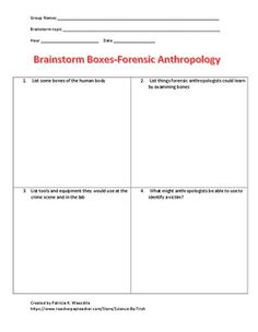 Brainstorm Boxes-Do you want your students to brainstorm answers to questions BEFORE you teach the material?  Do you want to determine their prior knowledge of a concept BEFORE they read the chapter? This activity is just what you need. Education, high school science