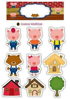 Tres cerditos Eid Crafts, Diy And Crafts, Crafts For Kids, Paper Crafts, Creative Curriculum Preschool, Preschool Crafts, Three Little Pigs Story, Felt Board Stories, Christmas Drawing