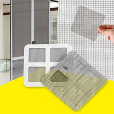 3Pcs/Set Fly Mosquito Door Window Net Mesh Screen Curtain Netting Patch Repairing Broken Holes Sticker Mesh Sticky Wires Patches