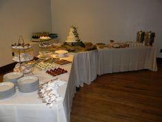 Dessert reception set up