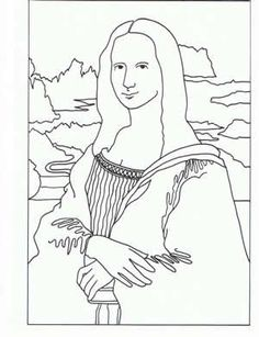 dozens of famous works of art as coloring pages