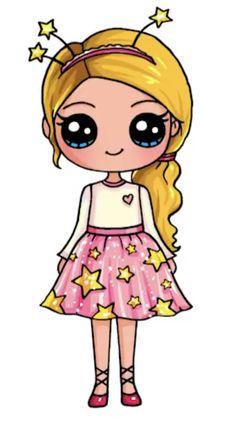 милая девочка - Pen Tutorial and Ideas Kawaii Girl Drawings, Cute Girl Drawing, Disney Drawings, Little Girl Drawing, Cute Cartoon Drawings, Kawaii Disney, Cute Disney, Doodles Kawaii, Arte Do Kawaii