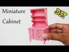 How To Make Realistic Miniature Cabinet Furniture #2 | Handmade Dollhouse - YouTube