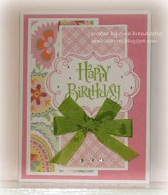 Very pretty card using Chantilly paper from Close To My Heart