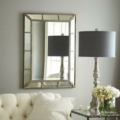 Lightly antiqued mirror