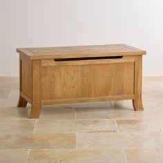 Taunton Rustic Brushed Solid Oak Blanket Box
